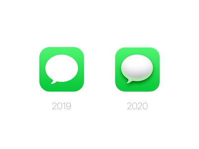 Messages Icon (macOS Big Sur) ui messages macos big sur app os x mac os photoshop icon zklm0000