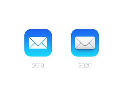 Mail Icon (macOS Big Sur) mockup psd wwdc mail icon mail os x mac os ui photoshop icon zklm0000
