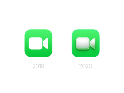 FaceTime Icon(macOS Big Sur) freebie mockup psd wwdc os x mac os ui photoshop icon zklm0000