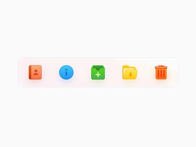 OS Icons illustration skeuomorphism color big sur ux smartisan design os x mac os figma ui icon zklm0000