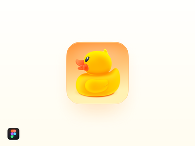 Duck Icon skeuomorphism painting os x mac os illustration smartisan ui icon zklm0000