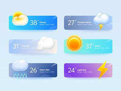 Weather Widget 2 weather aqua android sketch os x app mac os smartisan illustration ui photoshop icon zklm0000