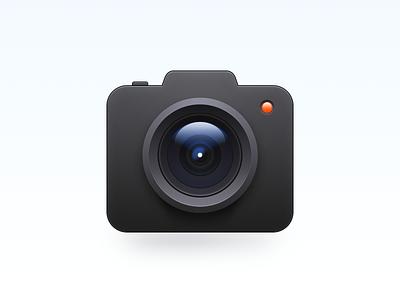 Camera Icon skeuomorphism camera os x mac os smartisan illustration ui photoshop icon zklm0000