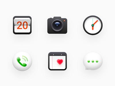 Icons skeuomorphism clock phone os x mac os smartisan ui photoshop zklm0000