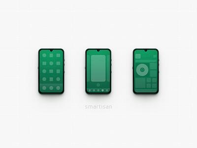 Smartisan OS 7.0 skeuomorphism icon mockup jianguopro3 andorid smartisan ui ux mac os illustration photoshop zklm0000