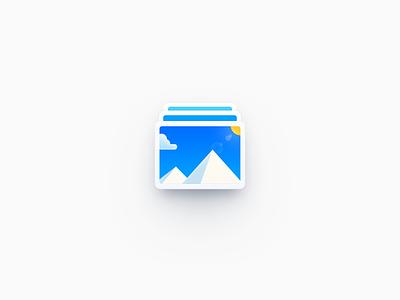 Photo Icon skeuomorphism android ui os x mac os illustration smartisan photoshop zklm0000
