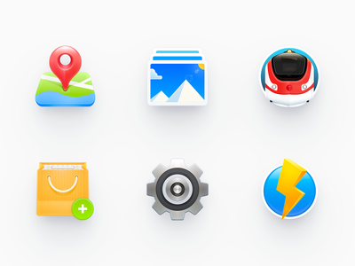 Icons 2 skeuomorphism map setting vehicle ux android app os x mac os ui smartisan photoshop zklm0000