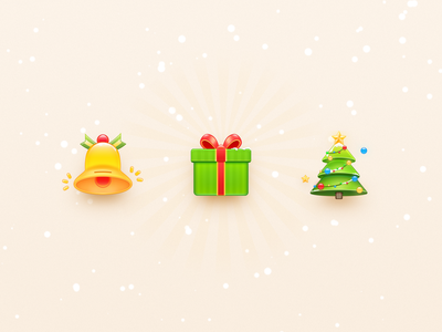 Christmas Icons 🎅 skeuomorphism christmas tree christmas os x ui android illustration icon app mac os smartisan photoshop zklm0000