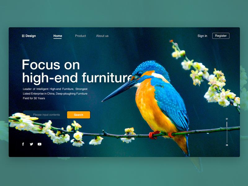 Intelligent High-end Furniture WEB 商标 艺术 趋势 产品 概念 ui 设计