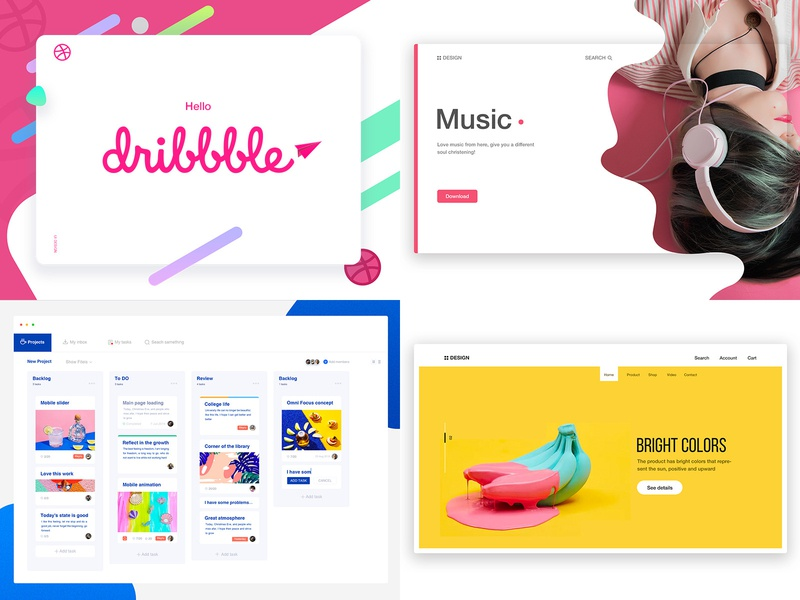 Review 2018, Outlook 2019 art design branding product illustration 商标 插图 web backstage interface 概念 设计 ui