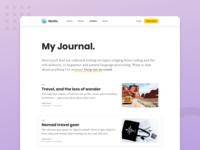 Blog Articles Exploration article page blog journal