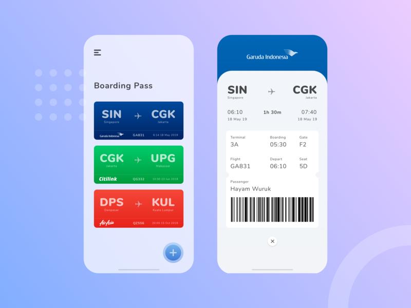 Boarding Pass App ticket boarding pass app design mobile application boardingpass flight ios app