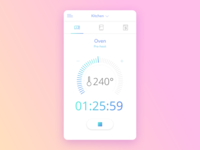 Oven Countdown Timer - Smart Home App UI