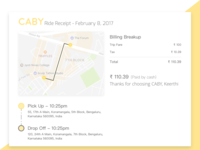 Caby - Email Receipt