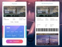 Airlines Boarding pass and Checkout concept