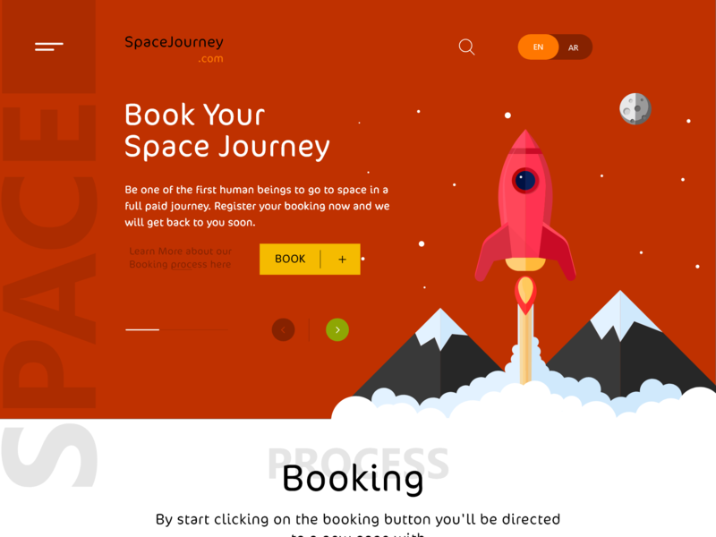 Space Journey Website booking illustration user inteface ux  ui website adobe xd illustrator