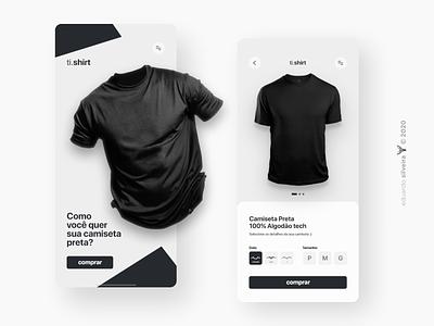 ecommerce | ti.shirt shop ecommerce design ecommerce tshirt branding ux ui design