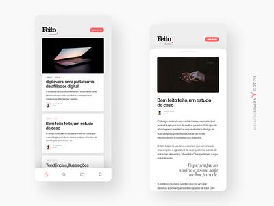 app | feito blogapp blog apple app uiux ui gradient branding
