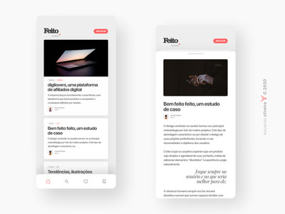 app | feito blogapp blog apple app uiux ui gradient branding