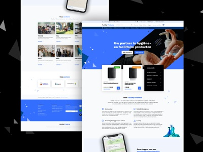 WooCommerce webshop FacilityProducts woocommerce web design adobe xd design