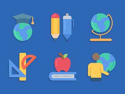 Education Icons education illustration icons pack iconset icons design icons icon designs designer