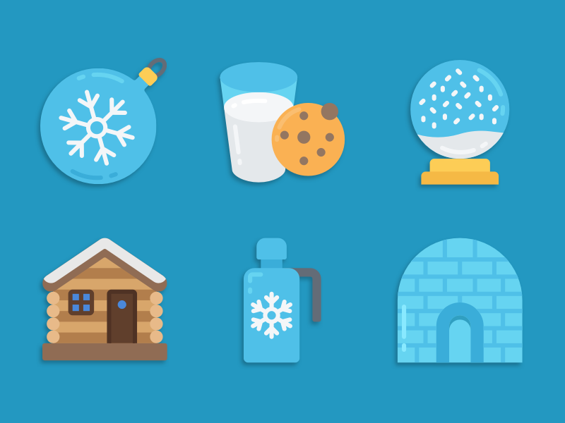 Winter icons illustration icons pack iconset icons design icons icon designs designer
