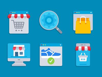 Ecommerce icons ecommerce illustration icons pack iconset icons design icons icon designs designer