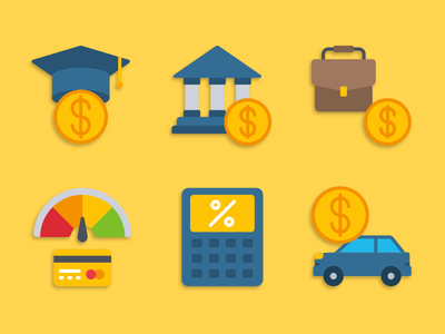 Loans icons loans illustration icons pack iconset icons design icons icon designs designer