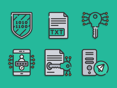 Cryptography icons cryptography illustration icons pack iconset icons design icons icon designs designer