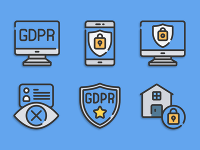 Information Security icons illustration icons pack iconset icons design icons icon designs designer