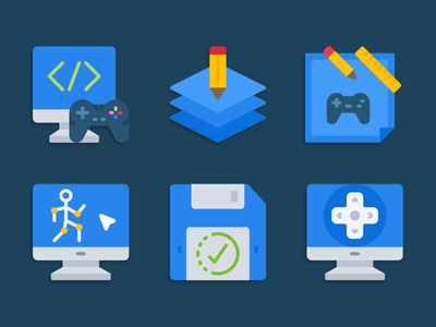 Game development icons game development illustration icons pack iconset icons design icons icon designs designer