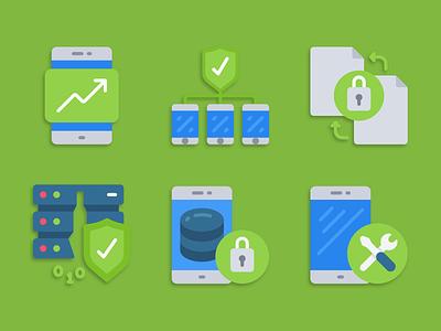 Mobile Device Management icons mdm illustration icons pack iconset icons design icons icon designs designer