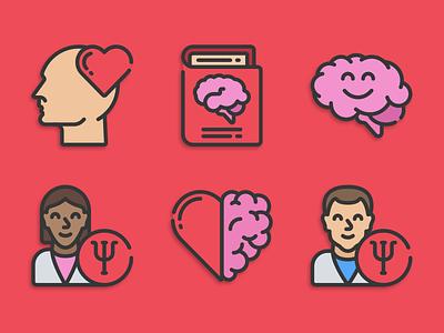 Mental Health icons mental health illustration icons pack iconset icons design icons icon designs designer