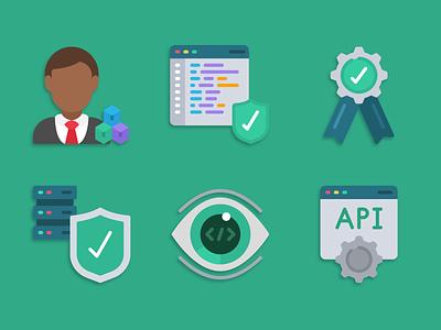Software Development Icons illustration iconset icons pack icons design icons icon designs designer