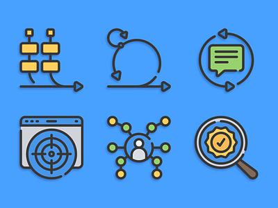 Icons agile development agile illustration icons pack iconset icons design icons icon designs designer