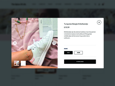 The Spice Of Life: Product quickview popup web slider modern clean women pink design ui ux fashion ecommerce