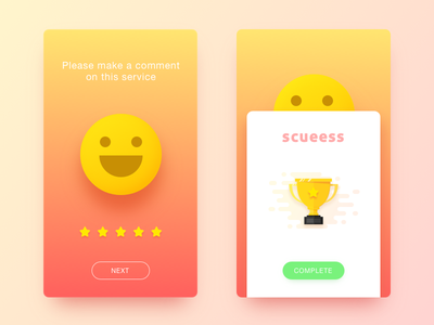 User evaluation smiling,app,ui,color,china face,orange,invite,first shot,