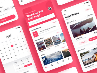 Lif Is Fantastic 04 design schedule travel journey app pink ui