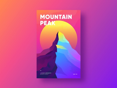 Mountain Peak graphic graphic design gradient colorful poster a day poster art poster illustration
