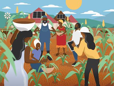 Future Farm future explainer animation explainervideo researcher farmer farm animation 2d illustration african farming vector illustration vectorart rural