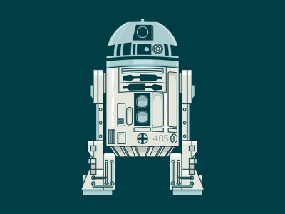 R2D2 - May the 4th be with you fanart star wars day vector illustration vector art design vector illustration maythe4thbewithyou maythe4th star wars starwars r2d2