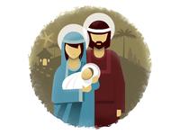 Jesus, Mary and Joseph nativity