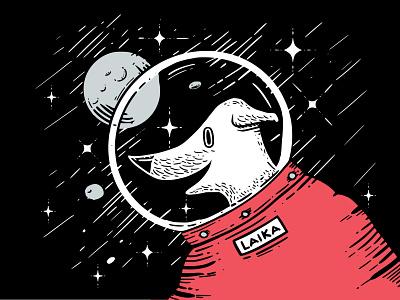 Legend Inktober 2019 dailychallenge vectober inktober2019 inktober 2d vector illustration space astronaut spacedog laika