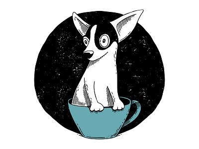 Teacup Chihuahua 2d vector dog miniature chihuahua teacup ornament inktober2019 vectober inktober ink