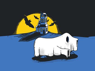 Ghost Inktober2019 2d vectober inktober inktober2019 vector illustration dog ghost halloween