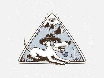 Ancient Inktober2019 doritos ancient pyramids dog vectober inktober inktober2019 vector illustration
