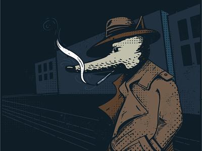 Coat Inktober 2019 inktober2019 inktober vector illustration detective inspector dog coat