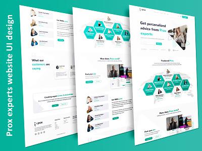 Prox experts advice website UI design design branding corporate ui ux design creative psd template minimal