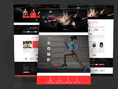 Gym Psd Template Design