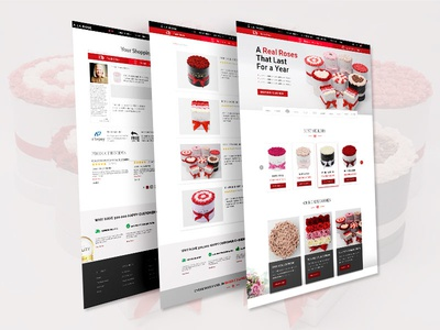 eCommerce PSD template Design